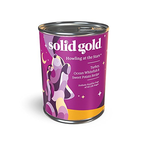 Solid Gold Wet Dog Food; Howling At The Stars With Real Turkey, Fish & Sweet Potato, 12Ct/13.2Oz Can 13.2 Ounce Puppy Food