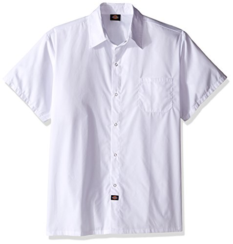 Dickies Chef Men's Big and Tall Cool Breeze Chef Shirt, White poplin, 4X-Large ()