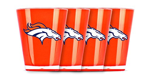 NFL Denver Broncos Insulated Acrylic Shot Glass Set of 4