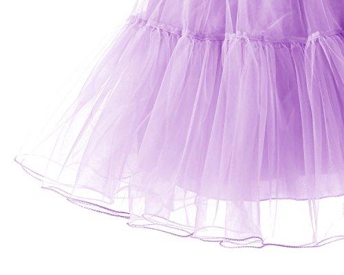 Gonne Sottoveste Sottogonna Rete Tutu Retro Bridesmay 50s Vintage Lavender Breve Donna Utw1xqz