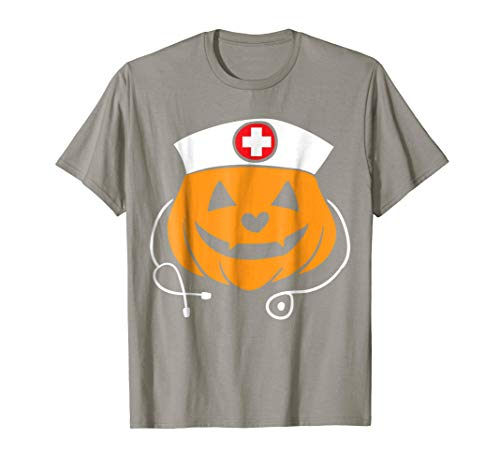 Nurse Halloween Costume T-Shirt - Pumpkin Nurse