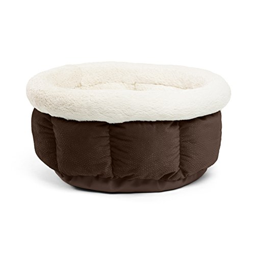 Best Friends by Sheri Small Cuddle Cup - Cozy, Comfortable Cat and Dog House Bed - High-Walls for Improved Sleep, Dark Chocolate by Best Friends by Sheri (Image #3)