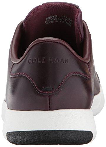 Cole Haan Mens Grandpro Tennis Malbec Dra Upp Läder / Optisk Vit