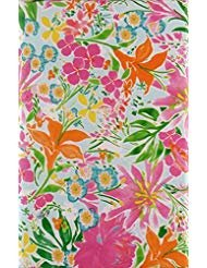 Summertime Floral Collage Vinyl Flannel Back Tablecloth (60