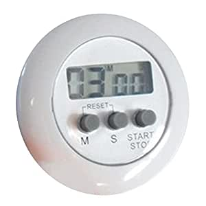 Kitchen Digital Count Down Up LCD Timer Alarm White