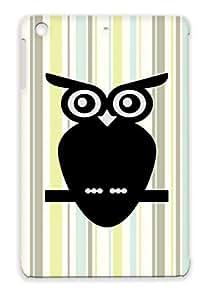 Animals Nature Hoot Owls Owl Birds Bird Nocturnal TPU Protective Case For Ipad Mini Silver Owl
