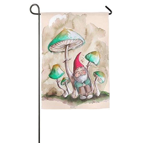 Hattgg Custom Gnomes Funny Home Yard House Garden Flags 12 X 18 Semi Transparent Polyester Fiber (Custom Long Halloween Beards)