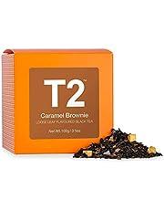 T2 Tea Caramel Brownie Loose Leaf Black Tea in Box, 100g (3.5 Ounce), 100 g