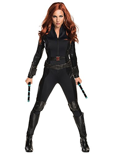 Black Female Halloween Costumes (Rubie's Women's Captain America: Civil War Black Widow Costume, As Shown,)