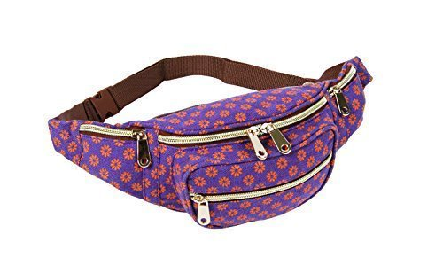 Purple Bags Dot New For Aztec Pack Flower Denim Haute Holiday Bum Floral Grunge Canvas Wall Polka Diva's Fanny Flower Travel Womens WqgB4ppRw