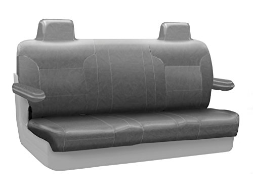 Coverking Custom Fit Rear Solid Bench Seat Cover for Select Lincoln Town Car Models - Genuine Leather (Gray) ()