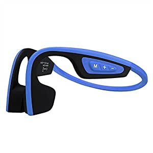 LF-19 Wireless Bone Conduction Bluetooth Bluetooth Headphones for Running, Sweatproof Stereo Earphones, Durable Cordless Sport Headset (Sky Blue)