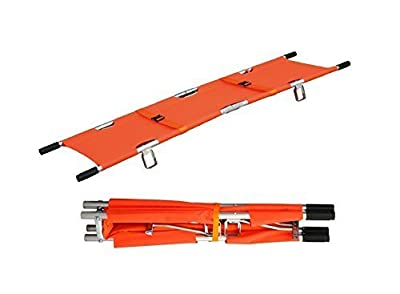 LINE2design Medical Emergency Aluminum Alloy Folding Portable Stretcher with Handles
