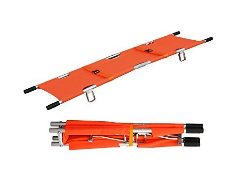 (LINE2design Medical Emergency Aluminum Alloy Folding Portable Stretcher with Handles)