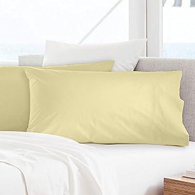 Fundas de almohada de percal 100% algodón egipcio – 300 hilos (50 ...