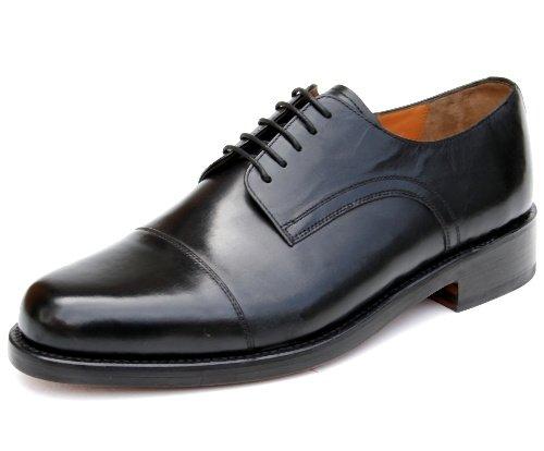 Prime Chaussures Veau Chicago Boîte Noire Noire Noble Dentelle Welted À Partir Du Meilleur Cuir De Veau Noir