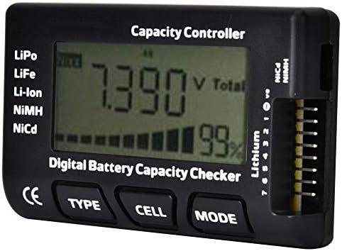バッテリー容量チェッカー 2-7S RC用 ポータブルデジタルバッテリー容量チェッカーメーターコントローラーテスター