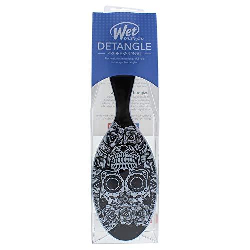 (Wet Brush Pro Detangle Hair Brush, Sugar Skulls Black & White)