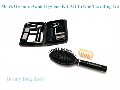 Men's Grooming and Hygiene Kit All In One 13 piece Traveling Kit