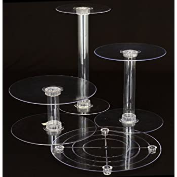 4 Tier Clear Wedding Cupcake Cake Stand STYLE 400 B