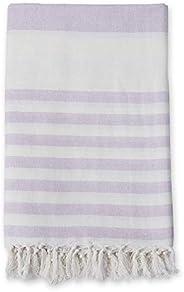 lulujo Turkish Towel Summer, Lilac/White