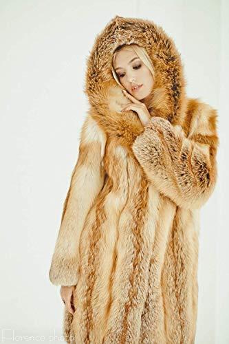 Long Fox fur Coat for women Winter jacket