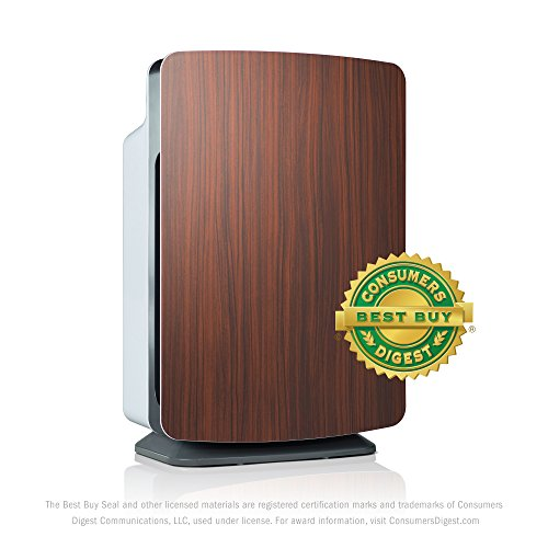 Alen BreatheSmart Classic Large Room Air Purifier - HEPA Filter for Pet Dander & Odor - 1100 sqft - Rosewood - with Extra Filter