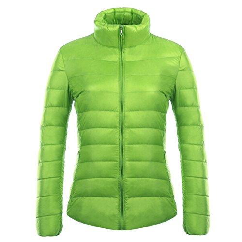 Women Down Jacket Winter Coat White Duck Down Padded Outerwear Hoodie Coats light warm comfortable windproof waterproof 12 Colors S-3XL Kootk Green