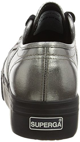 Zapatillas 2790 Grey Gris para Superga Cotmetw Mujer Black Hfw6qEx