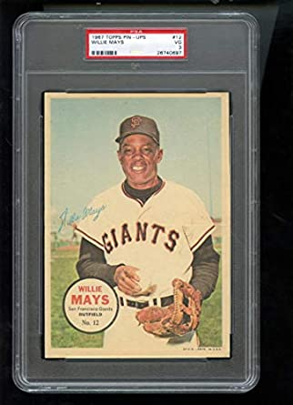 Amazoncom 1967 Topps Pin Ups Poster 12 Willie Mays Giants