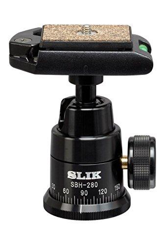 SLIK SBH-280E Professional Ballhead with Quick Release, Black (618-193)