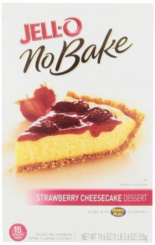 Jell-O No-Bake Strawberry Cheesecake Dessert, 19.6 oz by Jell-O