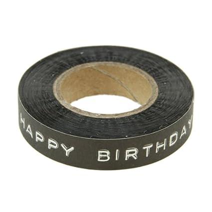 East of India HAPPY BIRTHDAY - negra y de x antiguo abandonado rollos de cinta