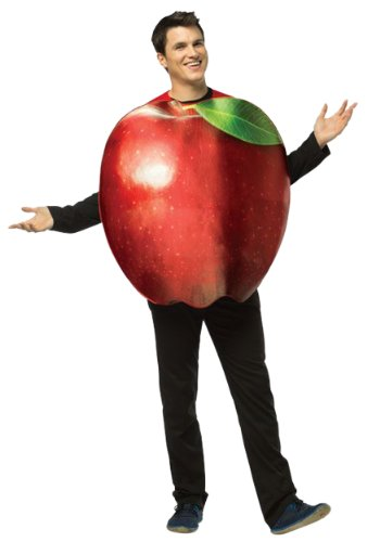 [Rasta Imposta Get Real Apple, Red, Standard] (Food Halloween Costumes For Adults)