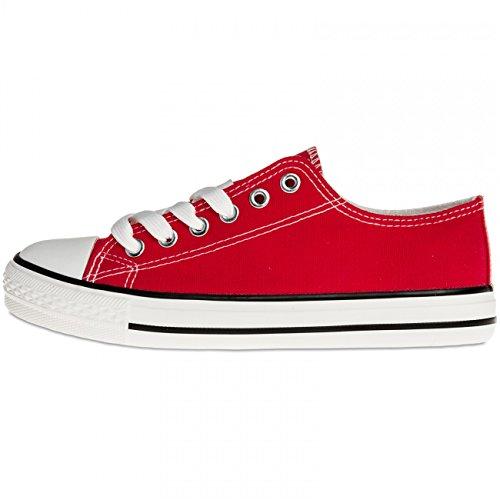 Femme Caspar Rouge Pour Ssn002 Sneakers Classiques Iwq8Fv