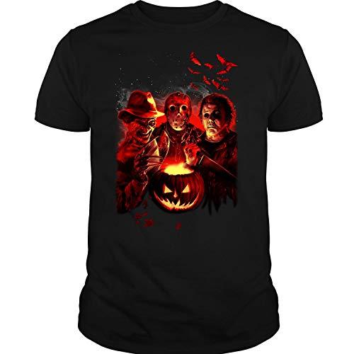 LEXIGSTORE Friday The 13Th Jason Voorhees Freddy Krueger T Shirt Unisex (LB,Forest) ()