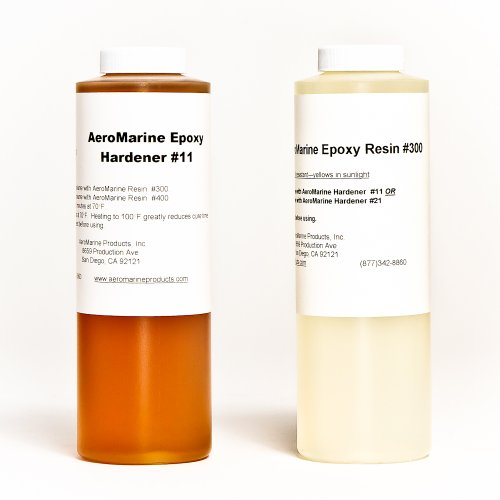 AeroMarine 300/11 Epoxy Resin Adhesive 1 Quart Kit by AeroMarine Products