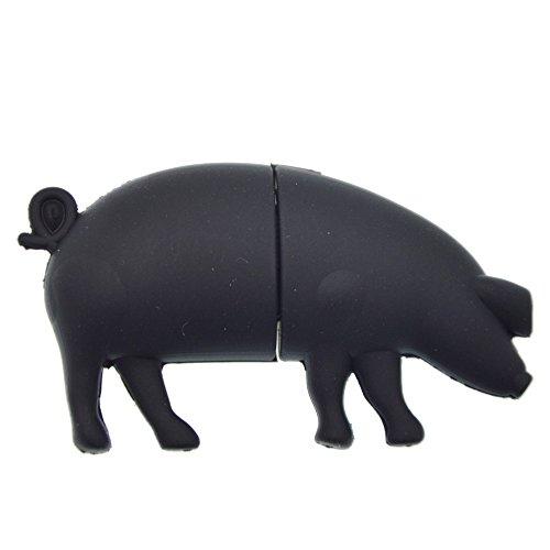 Flash Drive 32GB Cute Thumb Drive Black USB 2.0 Memory Stick Animal Zip Drives 3D U Disk Pig Pen Drive Hi-Speed Jump Drive for Data Storage, Friend Gift by Kepmem (Pig Drive Flash)