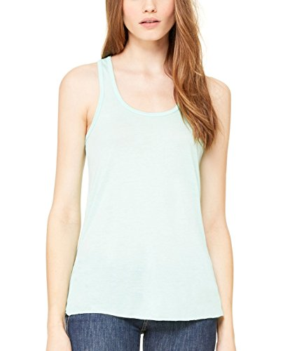 - Bella + Canvas Womens 3.7 oz. Flowy Racerback Tank (B8800) -MINT -S