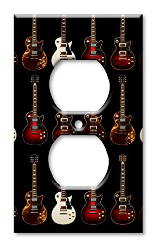 Art Plates Brand Electrical Outlet Cover Wall/Switch Plate - Electric Guitars