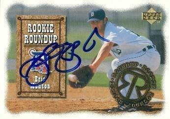 Autographed Eric Munson Baseball - Card 2000 Upper Deck Rookie #RR8 - Autographed Baseball Cards