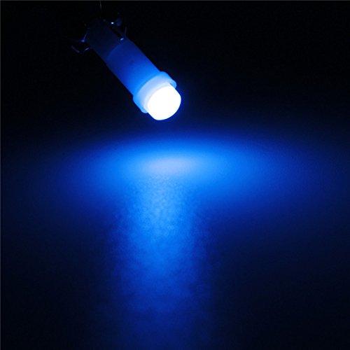 YONGYAO T5 1 COB Led Alta Potencia Coche Tablero De Instrumentos De Matrícula De Velocidad Cuña De Luz Bombilla-Azul: Amazon.es: Hogar