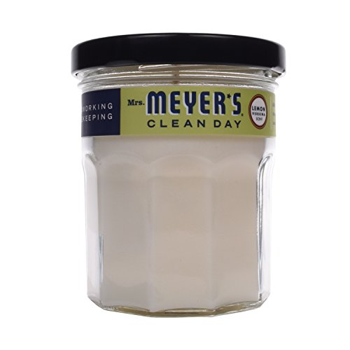 Mrs. Meyer's Clean Scented Soy Candle, Small Glass, Lemon Verbena, 4.9 oz -