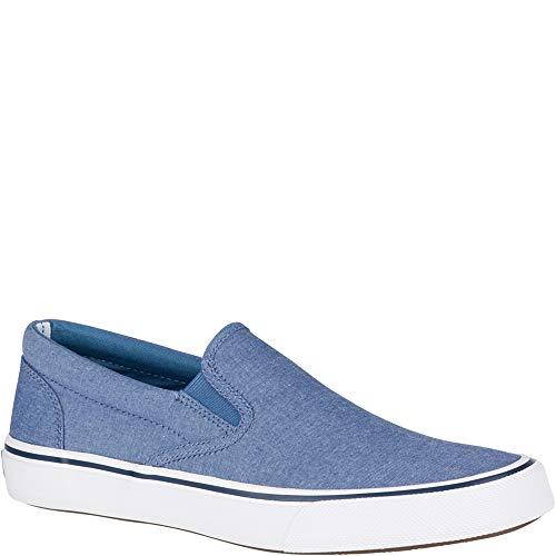 Sperry Mens Oxford - Sperry Top-Sider Striper II Slip On Oxford Shirt Sneaker Men 10 Blue