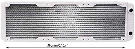 TD-ELECTRO 1PC White 120//240//360mm Aluminium Water Cooling Computer Radiator Water Cooler 18 Tube CPU Heat Sink Exchanger