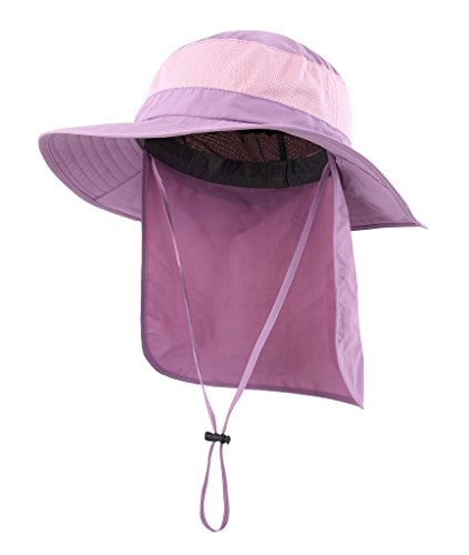 Home Prefer Outdoor UPF50+ Mesh Sun Hat Wide Brim Fishing Hat with Neck Flap  - Buy Online in Oman.  3b05ed109f29