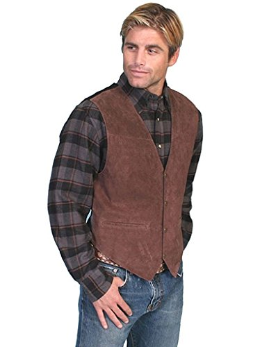Scully Men's Suede Leather Vest Espresso 3X ()