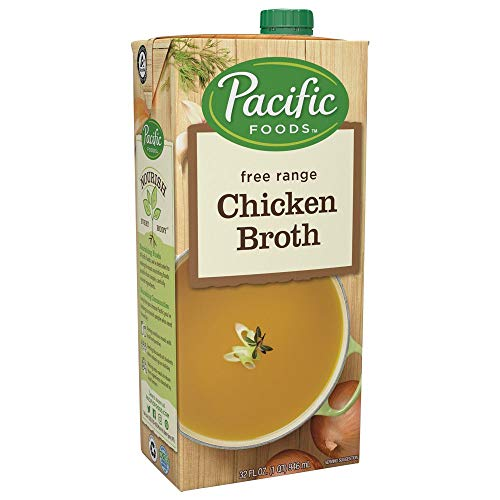 Pacific Foods Free Range Chicken Broth, 32oz, 12-pack -