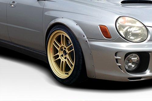 Duraflex Replacement for 2002-2003 Subaru Impreza WRX 4DR Race Front Fender Flares - 4 Piece  (Subaru Impreza Fender Replacement)