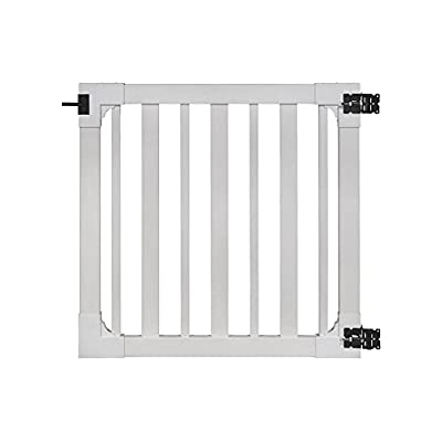 "WamBam Sturbridge Vinyl Yard and Pool Gate with Hardware, 48"" High by 48"" Wide : Garden & Outdoor"